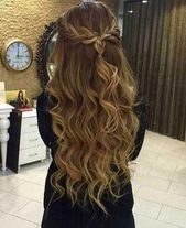Prom hairstyles for long hair with braids #braids #hairstyles #promUpdos