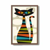 Black Cat Print, Coffee Lover Wall Art, Black Cat Art, Black Cat Gift Idea, Cat Lover Gift Idea, Cafe Sign Coffee Lover – Mid mod house