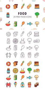 Free Food Vector Icon Set – #food #Free #Icon #Set…