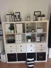Ikea Kallax schwarz und weiß #IKEA #Kallax #Schw…