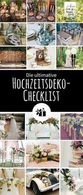 Die ultimative Hochzeitsdeko-Checklist | Gratis Download – Hochzeitskiste