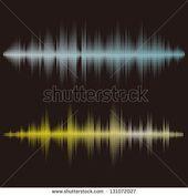 Halftone Square Vector Elementsvector Sound Waves Stock Vector (Royalty Free) 131072027