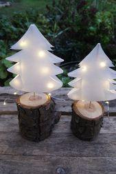 Weihnachtsbäume aus Papier   – Geschenke