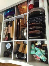 Makeup Storage Inspiration # 1 Schubladenlayout (feat. Ikea Alex Unit) | Tot… …