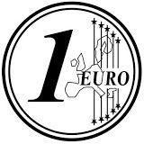 1 Euro Euro Colores Monedas