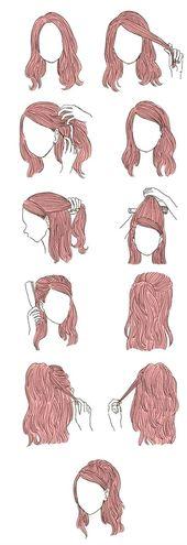 Frisur für die Schule # coiffeur # coiffuresposa2019 #acconciatureca