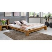 Futon bed / solid wood bed solid pine walnut A10, incl. Slatted frame – dimensions 140 x   – Products