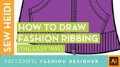 Illustrator Shortcuts  Fashion Ribbing Using Illustrator 2 Ways: Dashed Lines & The Blend Tool