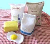 Felt Food Montessori Felt Milk Play Food Flour Felt Pretend Food Toy Baking Set Toy Play Food Gifts For Girl