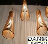 [DANIK]Nagelneue hölzerne hängende Lampe, die Licht hängt   – Decor ideas