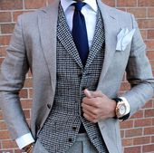 We love suits so much that we dedicate this board to incredible styles and icons www.memysuitandtie.com/ #mensfashion #men #mens #suit #grey