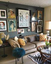 50 примеров того, как домашняя галерея сможет стать изюминкой интерьера