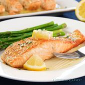 Photo of Salmon with Garlic Lemon Butter Sauce