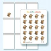 Gingie – A058 Cheesy Pizza, Pizza Delivery, Call Pizza, Pizza Lover, Italian Food – Emotis Hand Drawn Planner Stickers