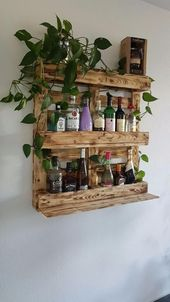 Hello, I offer here beautiful bar shelves made of solid pallet wood, which anyway
