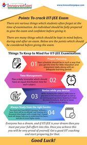 Punkte, um die IIT-JEE-Prüfung zu knacken   – Infographics