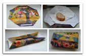– Sandwiches octogonales & # 39; Funda hecha de una bolsa de compras. – Funda para bocadi …   – DIY arts and crafts