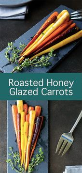 These heirloom rainbow carrots are roasted with a honey glaze. Tender, crisp, sw…   – Thanksgiving Recipes & Ideas
