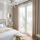(1er Pack) Moderner Vorhang aus einfarbigem Leinen   – New home