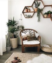 Regale Boho White Wände Pflanzen skandinavisch #…