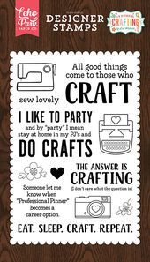 Echo Park Id Rather Be Crafting Eat Sleep Craft Stamps Stamp Crafts Echo Park Papers Co