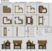 Woodland Hut – Small Minecraft House Blueprint by … – #Blueprint #House #Hut #… – Alyssa