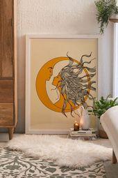 Nadja Sonne und Mond Kunstdruck – Dinspiration -…