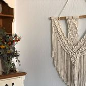 Above Couch Wall Decor, Macrame Wall Hanging, Extra Large Wall Art , Large Wooden Heart Wall Decoration, Large Rustic Wall Decor, Christmas