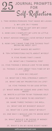 25 Journal Prompts For Self-Reflection – health-care