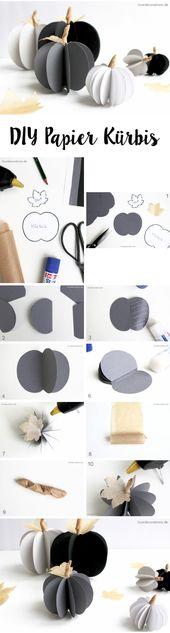 DIY Papierkürbis und mein Geständnis   – Step by Step Tutorials