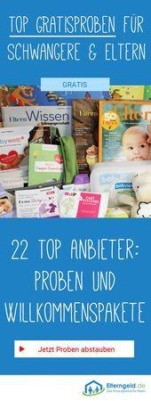 ᐅ 23 kostenlose Proben und Willkommenspakete für Babys   – Schwangerschaft | Pregnancy