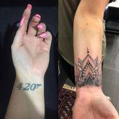 mandala cover up custom tattoo. Mandala and dotwork tattoo design