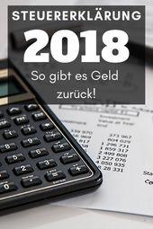 Steuererklärung 2018 – Was kann man alles absetzten?