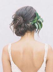 12 erdige Hochzeitsfrisuren für die Frühlingsbraut   – wedding hairstyles side