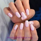 35 Simple Ideas for Wedding Nails Design 1 #nailideas