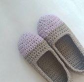 Lightweight slippers, antiperspirant, cotton crochet slippers, home slippers, crochet women gift, simply slippers