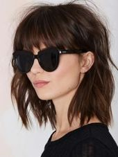 The most beautiful long bob hairstyles: frayed bob with bangs – new site