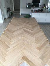 Fischgrätentisch: So stellen Sie Ihren eigenen schönen Holztisch her