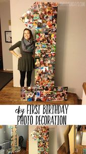 DIY creative photo collage for birthday party #photo collage #birthday party #k …  – Kindergeburtstag Monster