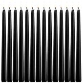 XYUT Elegant Taper Candles 12 Inches Tall Premium Quality Candles Set of 14 Black