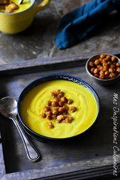 receta sopa cremosa con coliflor con cúrcuma