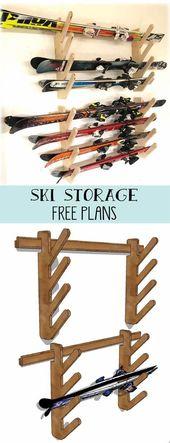 Skiaufbewahrung. Bauen Sie ein einfaches und dennoch robustes DIY-Rack für Ski oder andere Sportgeräte   – Diy Projects Gardens