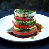 Caprese tomato and mozzarella salad