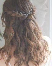 Nadri Short Floral Hair Garland - Silver