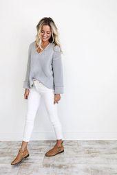 Cómo llevar jeans blancos en otoño e invierno