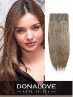Mittelgoldener Indischer Remy-Clip in Haarverlängerungen SD011, #Brown #clip #extensions # ...
