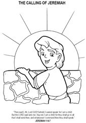 The Call Of Jeremiah Coloring Page Sunday School Coloring Pages Bible Crafts Bible School Crafts
