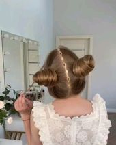 Cutest Hairstyle Video Ever Isn  39t this a cute h+#Cute #CUTEST #Hairstyle #isn39t #video