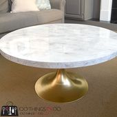 DIY (Faux) Marble Coffee Table