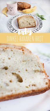 Baby Dinkel Bananenbrot ohne Salz und Zucker (ab ca. 7. Monat) www.frauerfreut ….   – KOCHEN & BACKEN FÜR BABYS UND KLEINKINDER